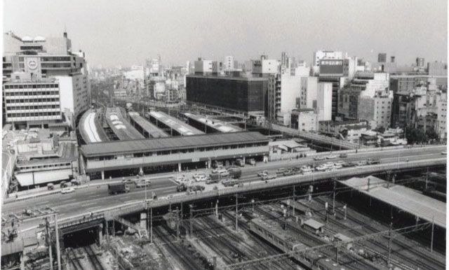 Shinjuku Station Aerial View