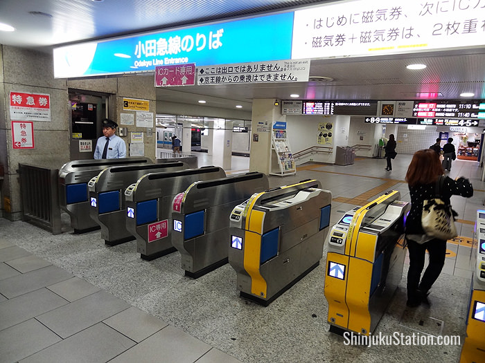 Ticket gates for the Odakyu Line at Shinjuku Station