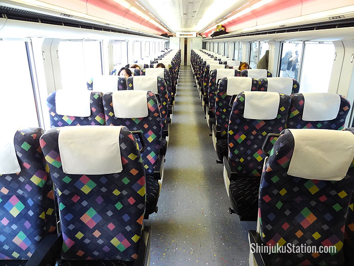 Super Azusa services whisk travelers to Matsumoto in about two and a half hours