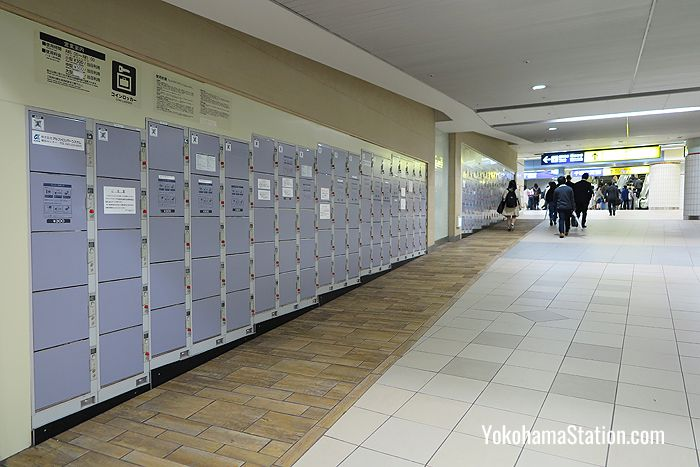 The B2 level lockers
