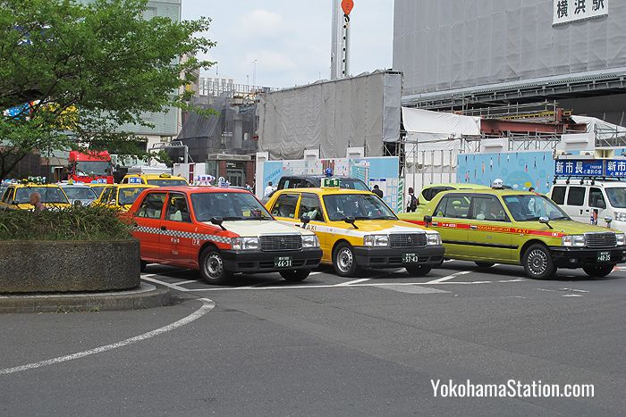 Taxis at Yokohama Station