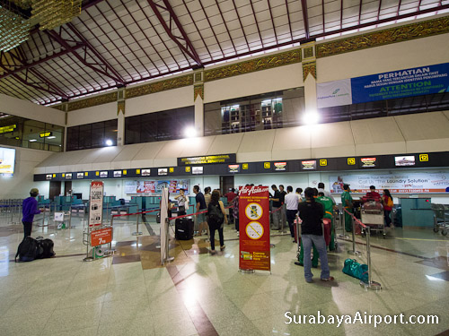 Check-in Counters Surabaya Airport